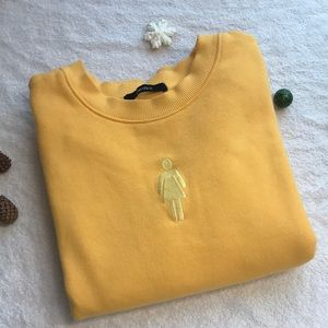 Yellow FOREVER21 sweatshirt
